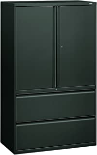 product image for HON 895LSS 800 Series 42-Inch Storage Cabinet with 2-Drawer Lateral File, Charcoal