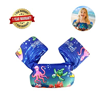 Swim Arm Bands Trainer Float Life Jacket Vest Learn Swimming Independence Fun Aid Water Pool Beach: Garden & Outdoor