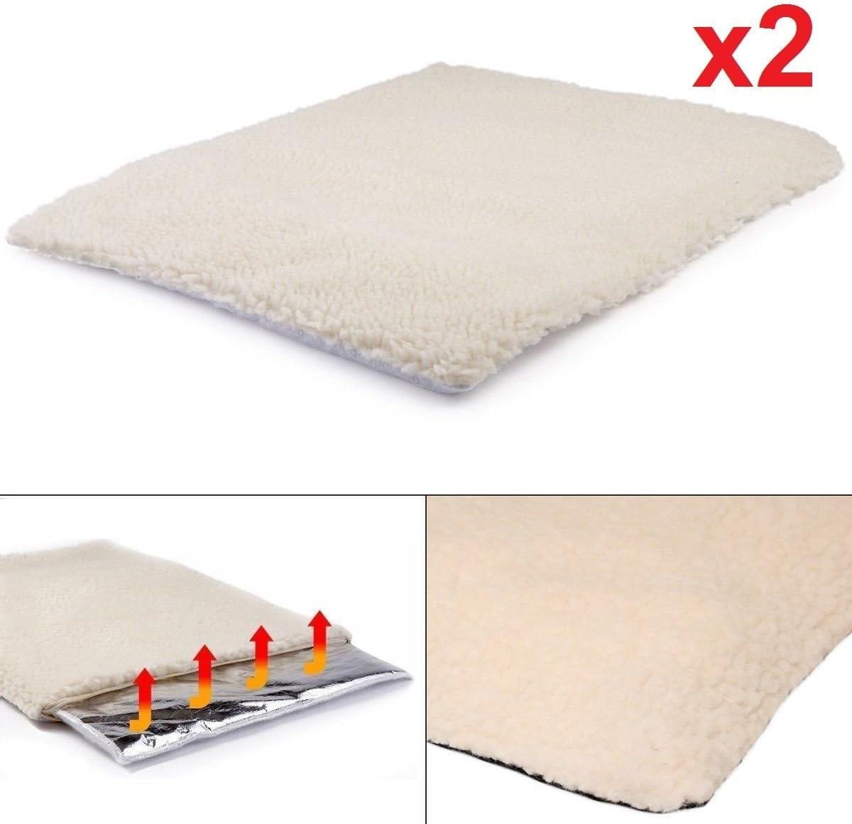 confezione da 2 DX9TM supporto per cane o gatto di media taglia coperta a cuscinetto auto riscaldante per animali domestici