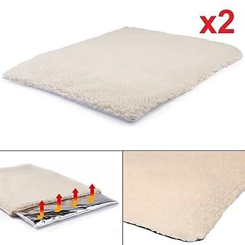 Set de 2 mantas térmicas para mascotas, de tamaño medio ideal para gatos o perros, de la marca DX9: Amazon.es: Productos para mascotas