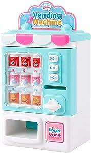 Xuwyas Toys Vending Machine Toys Beverage Machine Simulation Home Shopping Set Toys Creativity Toys for Kids Boys Girls Toddlers