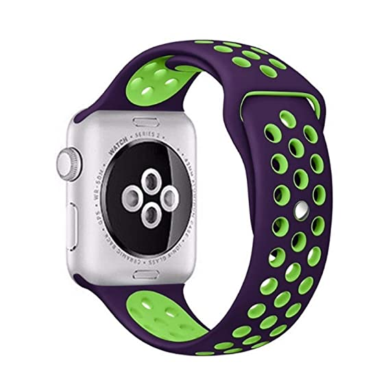 Amazon.com: Sports Silicone Strap for Apple Watch Band 4 ...