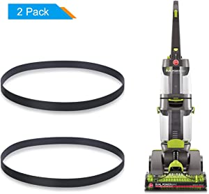 LANMU Replacement Belts for Hoover Dual Power Max Carpet Cleaner, Fit Model FH51000, FH51001, FH51002 Series Vacuum, Non-Stretch Flat Power Belt, Compare to Parts# 440005536 (Pack of 2)