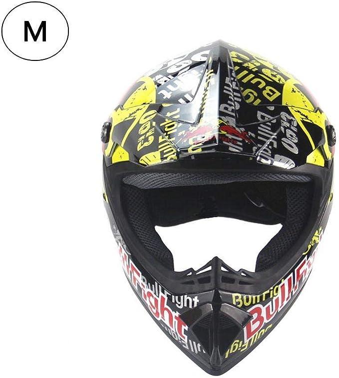iBellete Casco da Motocross per Fuori-Strada Casco Moto Fuoristrada ATV Four Seasons Casco Integrale da Mountain Bike per Uomo e Donna