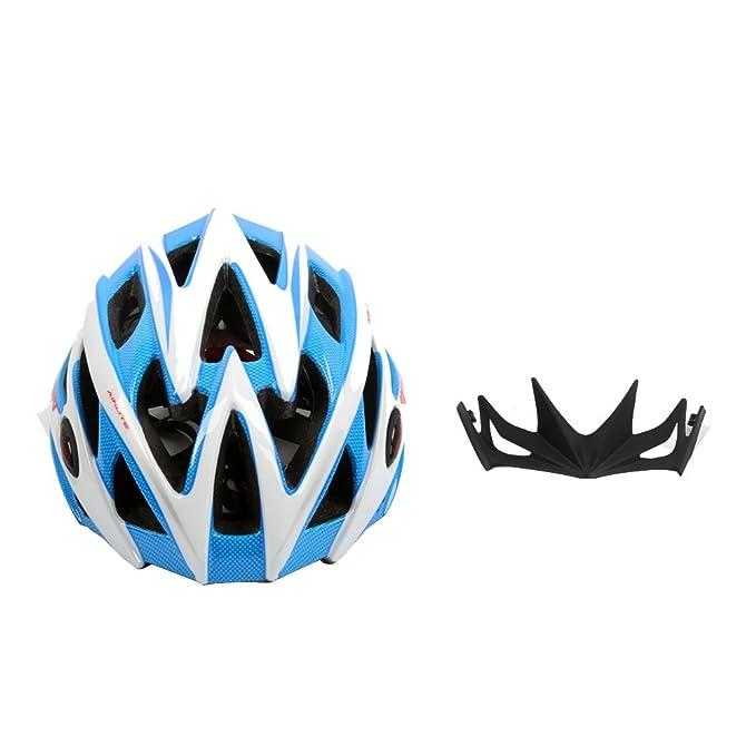 West bicicleta Unisex adulto bicicleta casco de seguridad con visera de fibra de carbono extraíble para MTB bicicletas de carretera o deportes al aire libre ...