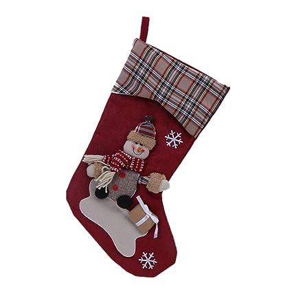Sencee tamaño grande Navidad medias calcetines año nuevo Papá Noel Candy bolsa de regalo de Navidad