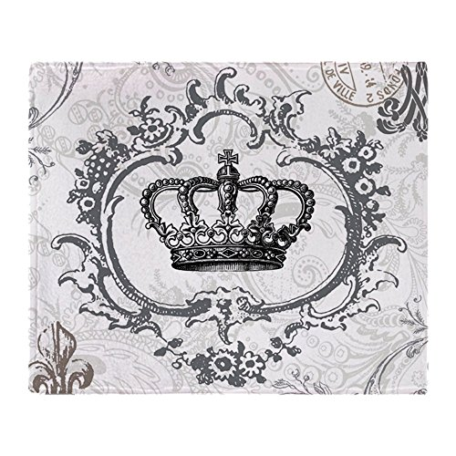 CafePress - Vintage French Shabby Chic Crown - Soft Fleece Throw Blanket, 50