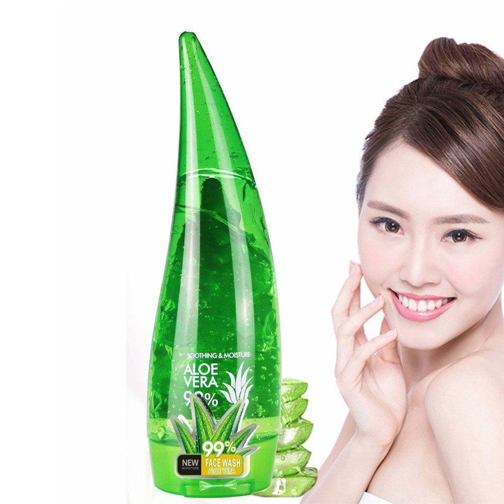 Facial Cleanser, Hoshell Aloe Vera Gel Pore Terminator Cleansing Foam Facial Cleanser Remove Blackhead Wash