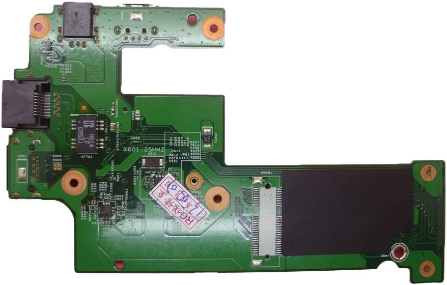 Laptop USB DC Jack and I/O Board for DELL Inspiron 15R N5010 M5010 M501R P10F 48.4HH02.011 with 3G Network Card AMD