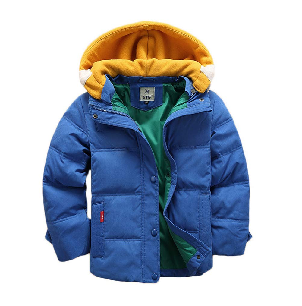 Valentina Kids Winter Latest Thicken Hooded Jacket Warm Quilted Coat Casual Outdoor Cool Cute for Boys Girls Autumn Spring Blue by Vinmin