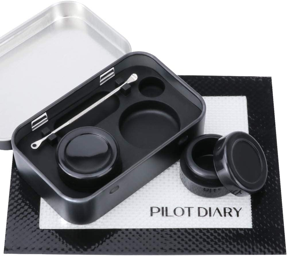 Wax Carving Stainless Steel Tool Set 2 in 1Silicone Container and Metal Carrying Case