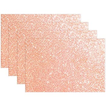 Amazon Com Marble With Rose Gold Placemats Set Of 4 For