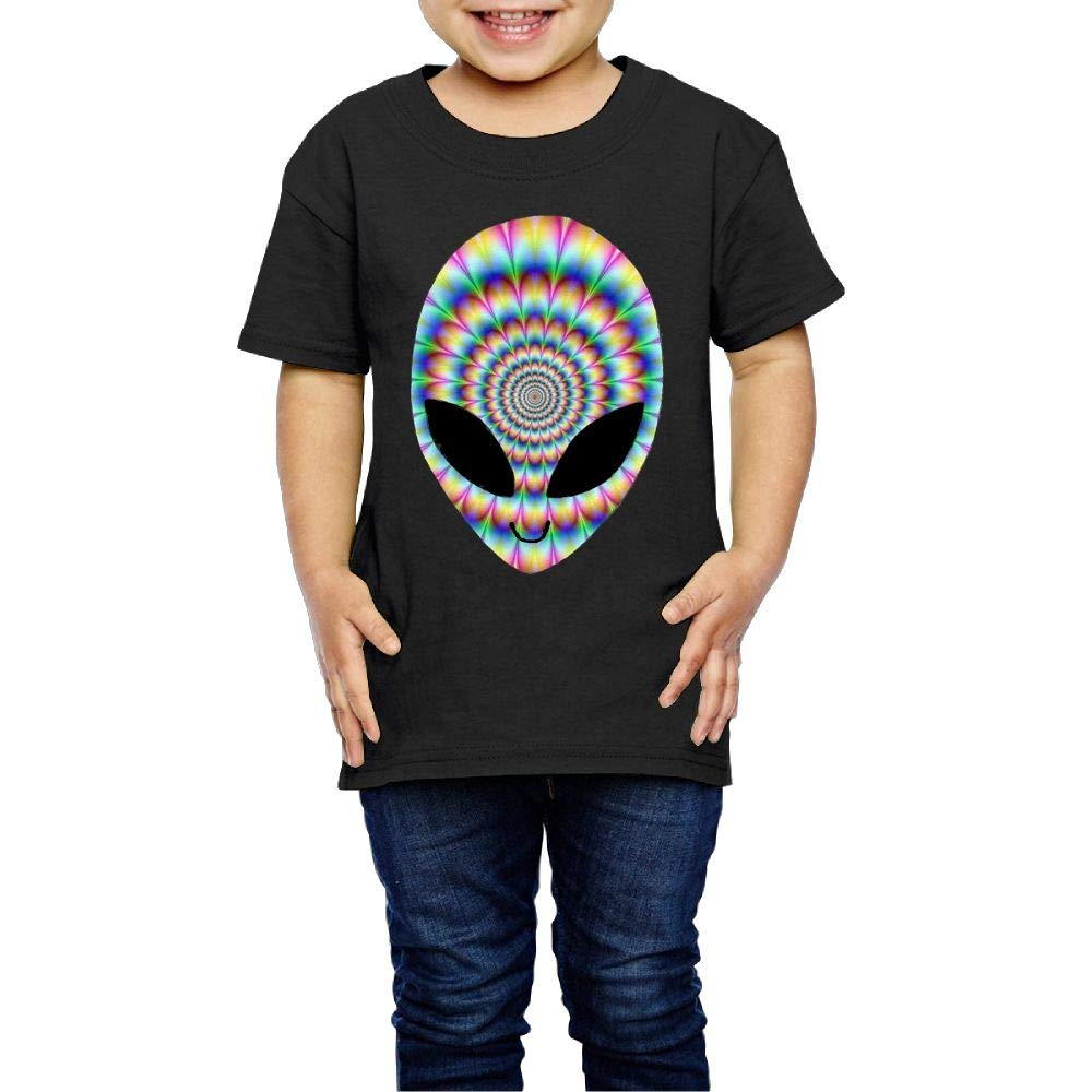 XYMYFC-E Trippy Cool Alien 2-6 Years Old Kids Short-Sleeved Tshirts