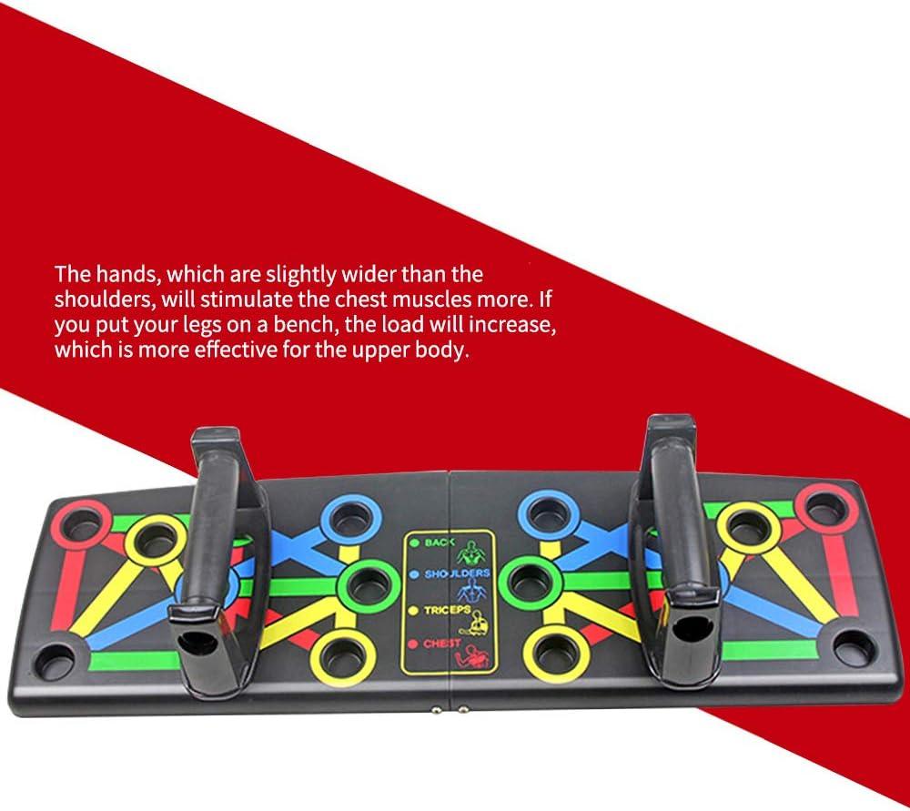 OurLeeme Soportes para Flexiones 4 en 1 Fitness Ejercicio Entrenamiento Push up Board Antideslizante para Diferentes Entrenamientos musculares