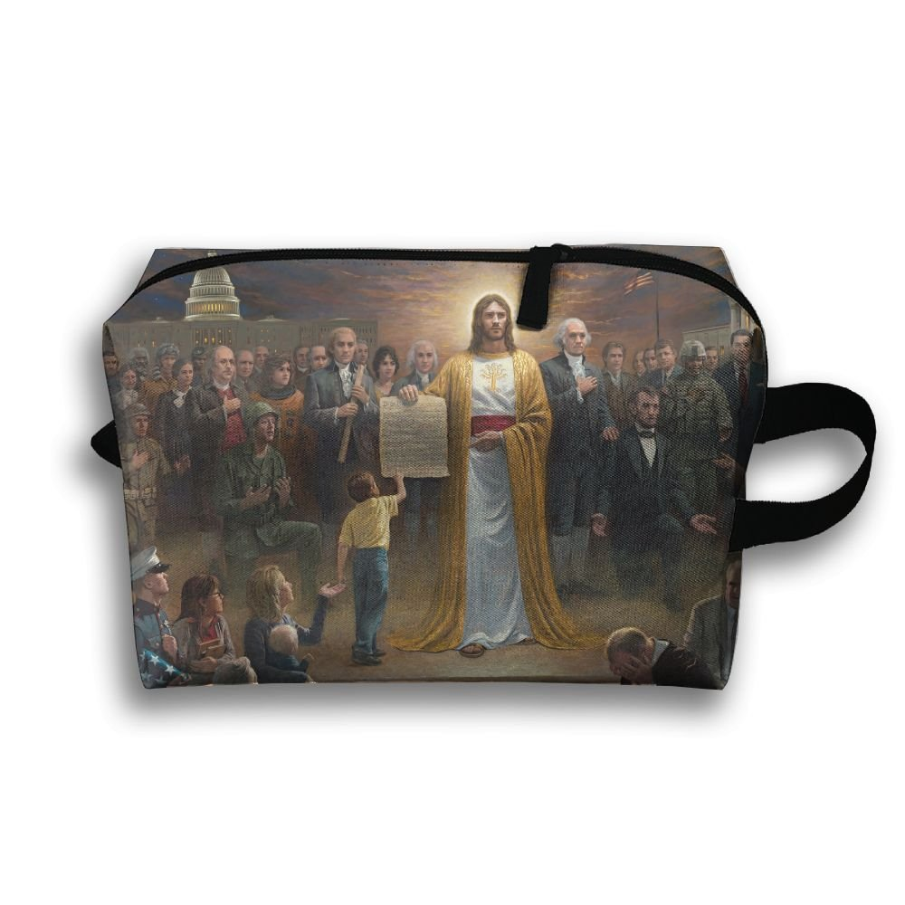Lqzdqa Unisex Tourist Bag Religious Christian Toiletry Bag Sundry Bag
