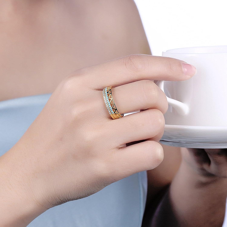 Amazon.com: BALANSOHO 6mm Eternity Stackable Wedding Band Ring Round ...