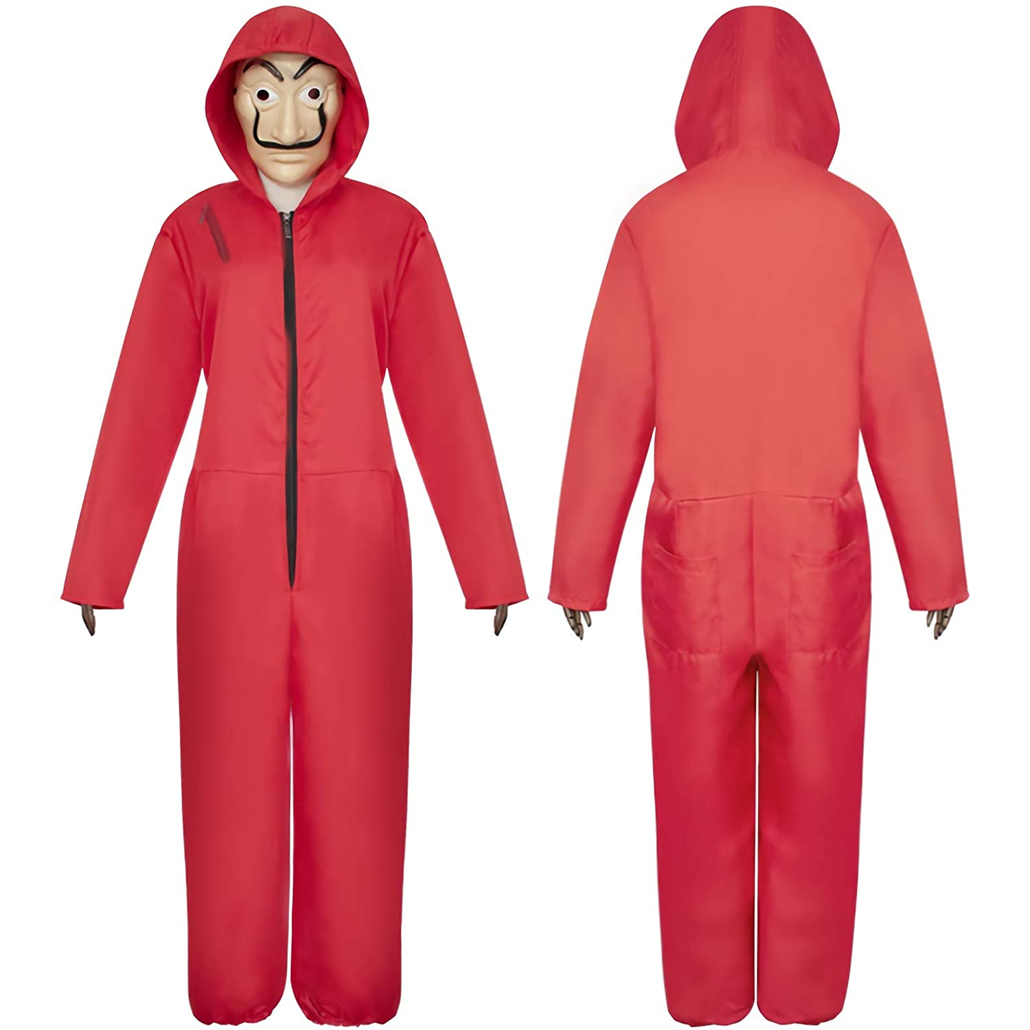 The Paper House La Casa De Papel Costume Hoodie Jumpsuits Salvador Dali Red Cosplay Clothing