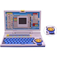 Famous Quality ® Kids Fun English Learner Educational Laptop for 20 Fun Activities Enhanced Skills of Children Premium Quality Kids Educational Purpose for Boy & Girls Best English Learner Laptop