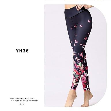 Amazon.com: Butterfly Printed Fitness Yoga Leggings High ...