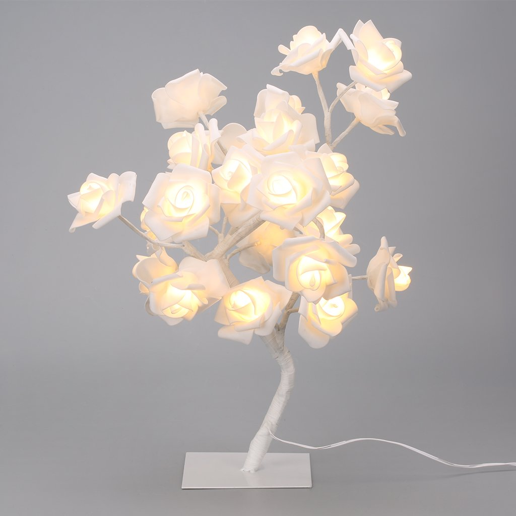 Rose Tree Like String Light Battery Lamp With Adjustable Branches