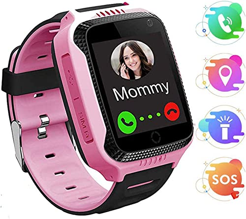 MUXAN Kids GPS Smartwatch,Smart Watch for Kids with SOS Call, Best Gifts for 4-12 Year Old Boys Girls,Touch Screen Anti-Lost Smart Watch Phone.