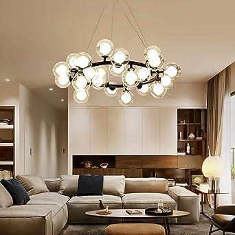 Modern LED Ceiling Lamp Glass Globe Bubble Pendant Light Dining Chandelier Light