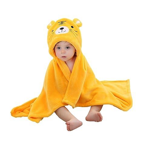 87bf848938c94 YAHUIPEIJP 上品 可愛い ベビー バスローブ フード付き 動物柄 タオル お風呂 マント ケープ 防寒 着ぐるみ
