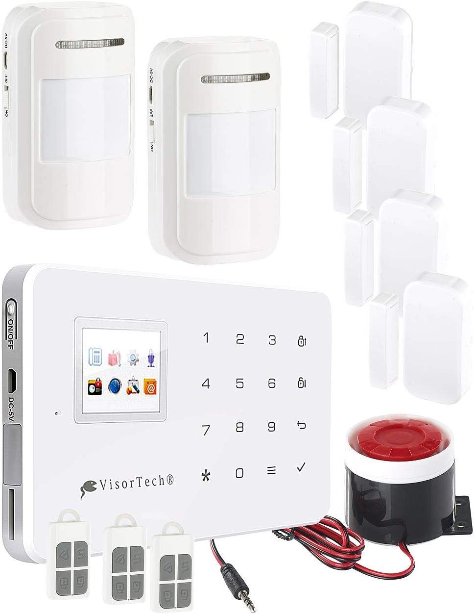 GPRS WiFi Intelligenter Videoalarm mit 2,4 TFT Farbbildschirm//Funkfernbedienung EU GSM Funk-Alarmanlage Set T/ürsensor PIR Sensor 433 MHz Wireless GSM
