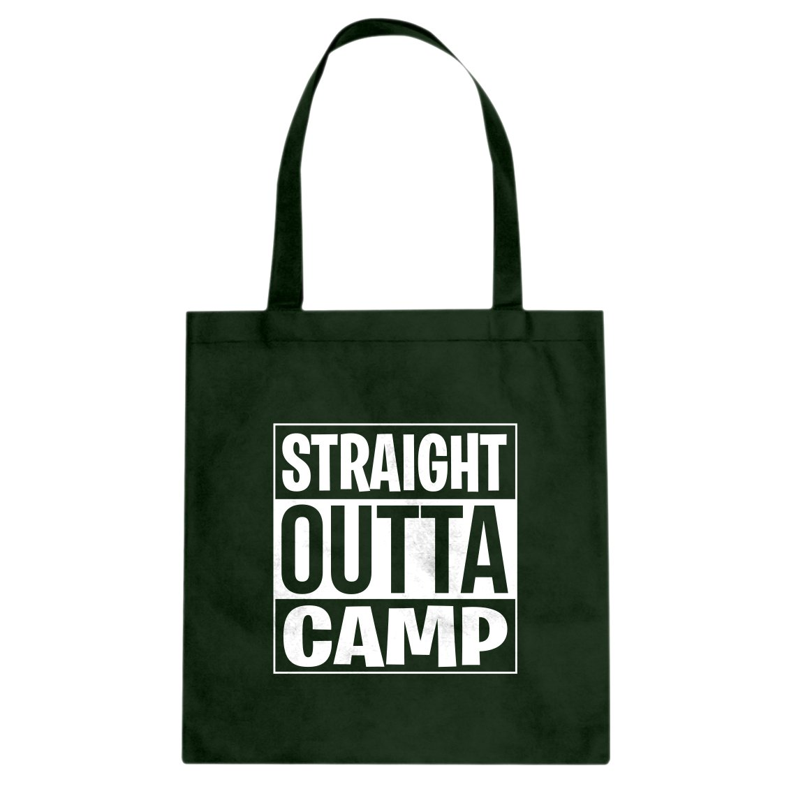 Indica Plateau Straight Outta Camp Cotton Canvas Tote Bag