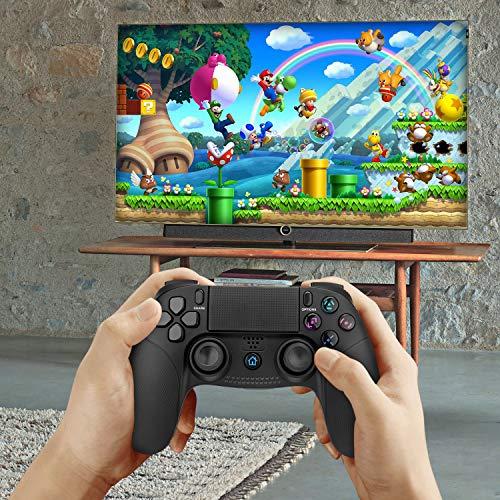 PS4 Controller,TechKen Wireless PS4 Gamepad für Sony Dualshock Controller PS4 Joystick Pro Grip Bluetooth Playstation 4 Vier Controller PS4 Zubehör Games Spiele für PlayStation 4 3 & PC Games 7