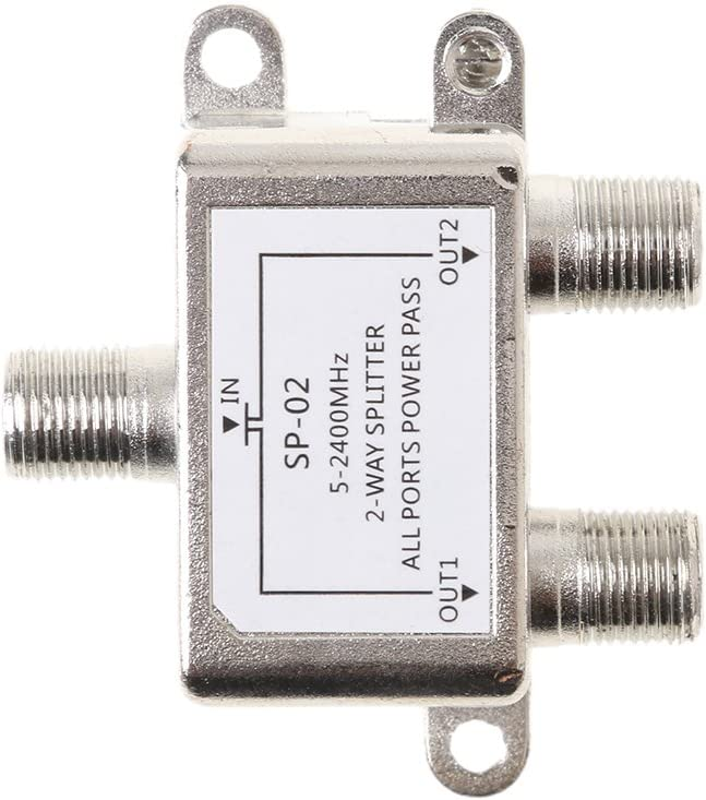 2 Way 5-2400MHz Splitter for Coax Cable HDTV Satellite