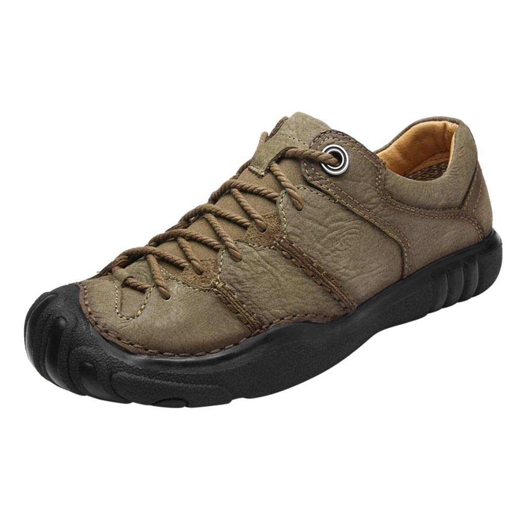 Giles Jones Men Hiking Shoes Anti-Slip Breathable Lace-up Camping Trekking Climbing Shoes