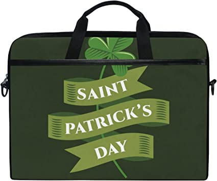 Patricks Day Laptop Case 15.6 Inch Carrying Case with Strap St