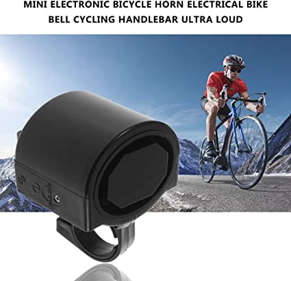 Bicycle Bell Electronic Alarm Horn MTB Waterproof Cycling Equipment Parts Black