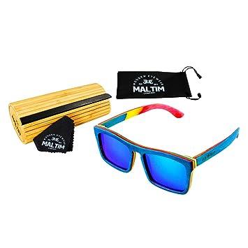 28d6dedd27 Sunglasses in Maple Wood - Wayfarer Style - 100% Handmade - Polarized  Lenses with Mirror