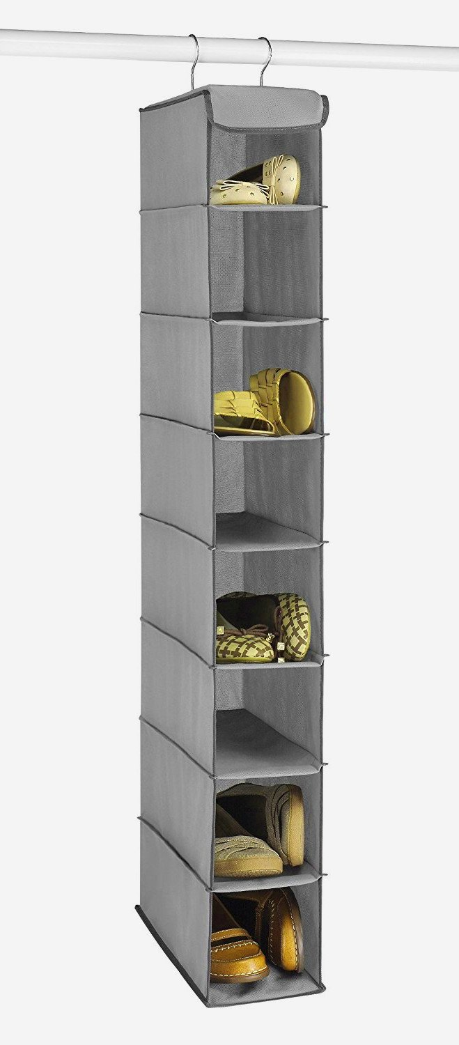 Big Shelving Unit, Steel Frame, Eight Shelves, Grey Color, Durable And High Resistant Construction, Eye-catching, Ideal For Your House, Attractive And Modern Design, Extra Storage,Easy Setup & E-Book.