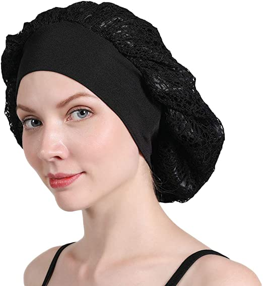 Wide Band Satin Bonnet Cap Night Sleep Luxury Cover Silk Adjustable NEW!