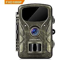 """EARTHTREE Wildkamera, 14 MP 1080P Beutekameras 2.4"""" LCD Überwachungskamera Nachtsicht 0,4 Sekunden Auslösezeit bis zu 65ft mit IP66 Wasserdichte Jagdkamera"""