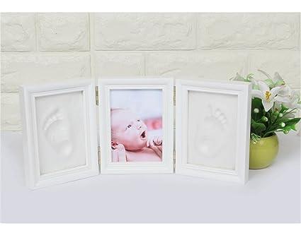 Holzsammlung Kit de Marco de Huellas de Mano y Pie de Bebé, Recuerdo Perfecto Para una ...