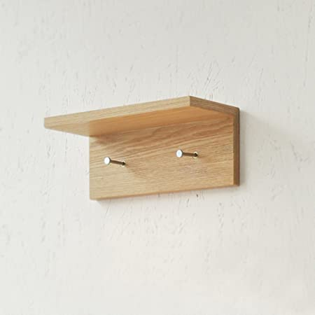 Shelf Solid Wood Wall Frame Simple Modern L Shaped Wall Hook Shelf