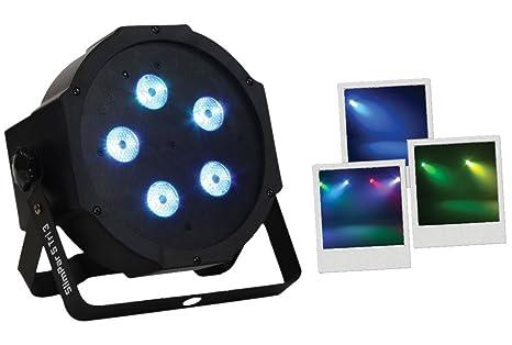 BoomToneDJ Slim Par 5TRI3 V2 - Proyector led, color negro: Amazon ...
