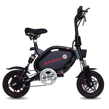 Bicicleta Eléctrica Plegable para Adultos 12 Pulgadas 350W, Batería De Litio De Aleación De Aluminio