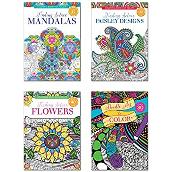 B THERE Adult Coloring Books Over 125 Different Designs Combined Mandala