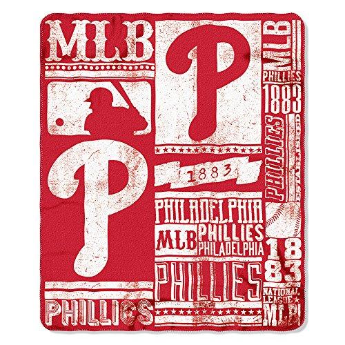 The Northwest Company MLB Philadelphia Phillies Printed Fleece Throw, One Size, Multicolor