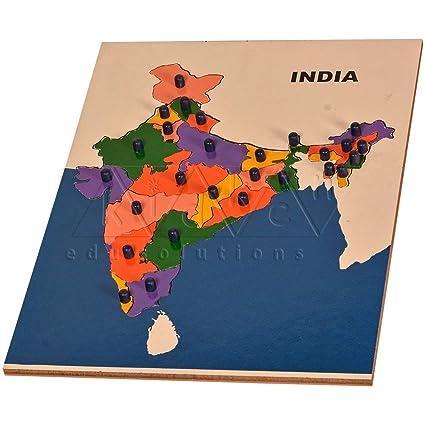Kidken Map Puzzle India Budget Range,Wooden Toys,Wooden Puzzle,Wooden Educational Toys