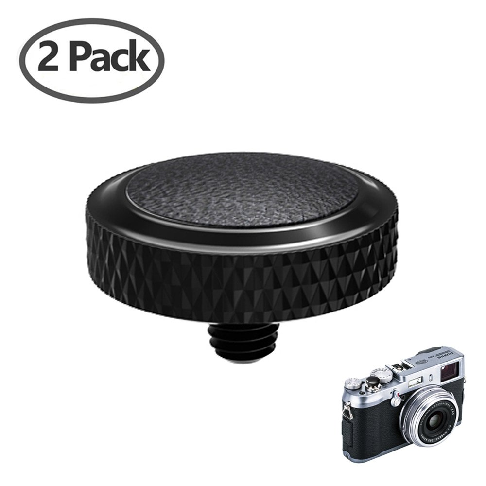 Camera Soft Release Button JJC Shutter Button for Fujifilm X-T20 X-T10 X-T2 X-PRO1 X-PRO2 X 100 X100S X100T X100F X30 X 20 X10 X-E3 X-E2S Sony RX1R RX10 II III IV Leica M7 M8 M9 M10 M-E M-P M-A 2pack SRB-GR BLACK 2pack