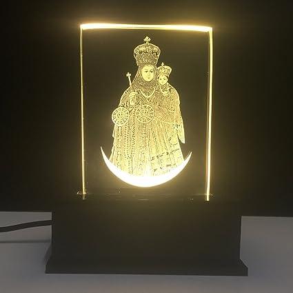 Gondget Glass God Annai Velankanni Matha Car Dashboard Idol With