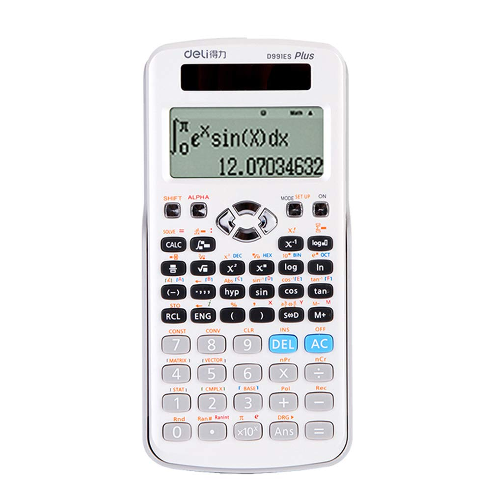 Advanced Scientific Calculator, Student/Office/Finance Electroplating Button 12-Digit Digital Display Currency Calculator,Business Standard Features Desktop Calculator