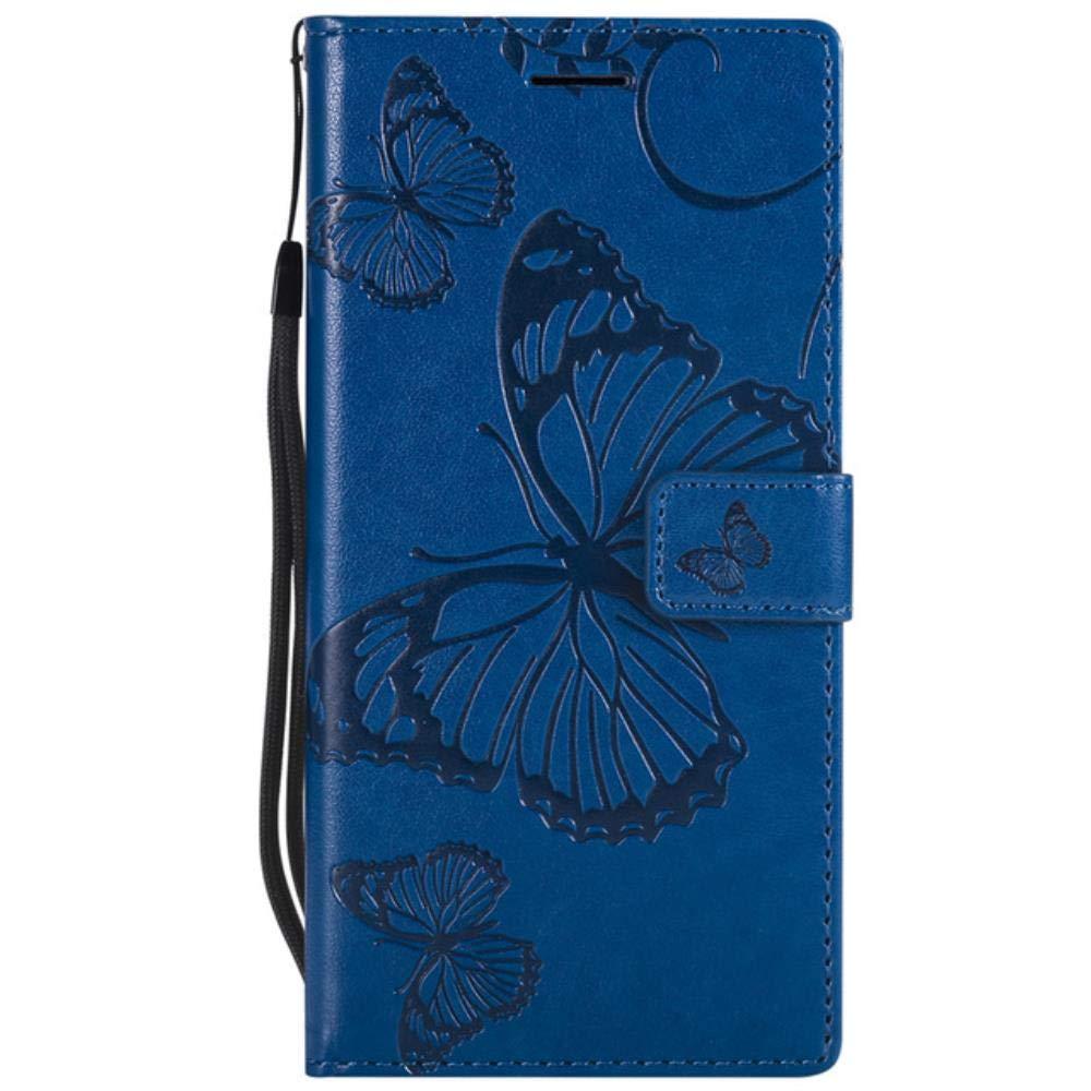 Dual 3D Butterfly Wallet Flip Case for LG G7 ThinQ V20 V30 V40 Q6 Q8 on LG K4 K8 K10 2017 2018 X Power Stylus 2 3 4 Funda Capa,Lavender,LG Stylus 3