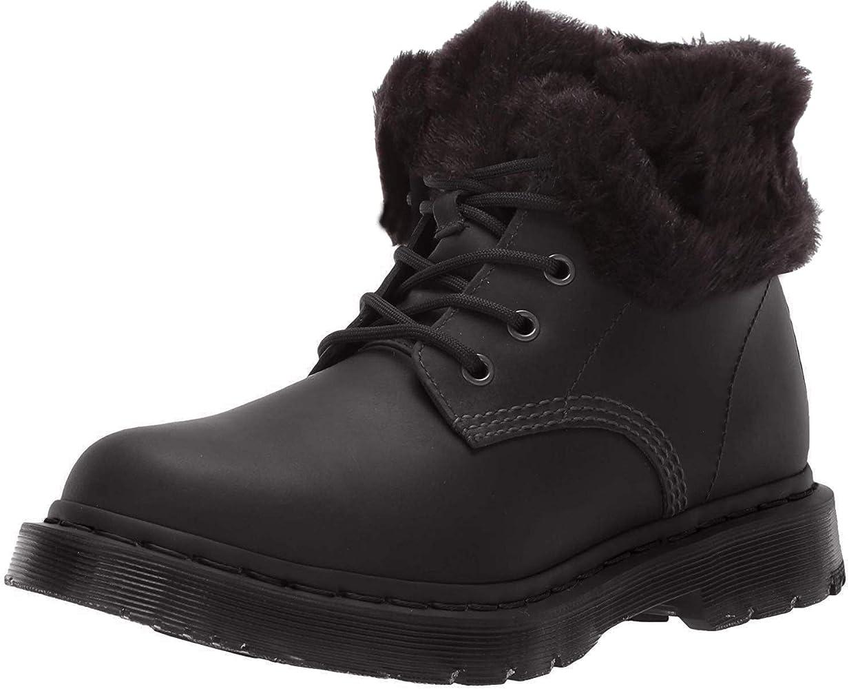 Amazon Com Dr Martens Women S 1460 Kolbert Snow Boot Black Snowplow Wp Waxy Waterproof Suede 5 Snow Boots